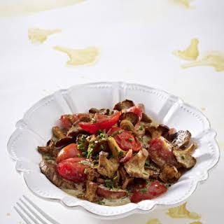 Pork Tenderloin with Tomato Mushroom Ragout.