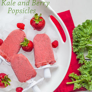 Kale and Berry Ice Pops