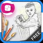 照片铅笔素描效果 icon