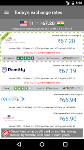 RemitRate: Compare remittance- screenshot thumbnail