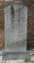 Photo: Doryann Thompson Rhoden daughter of John N Thompson and Marth Raulerson / Wife of William Newton Rhoden
