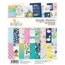 Simple Stories Double-Sided Paper Pad 6X8 24/Pkg - Little Princess UTGÅENDE