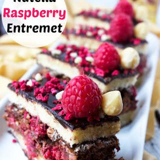 Nutella Raspberry Entremet
