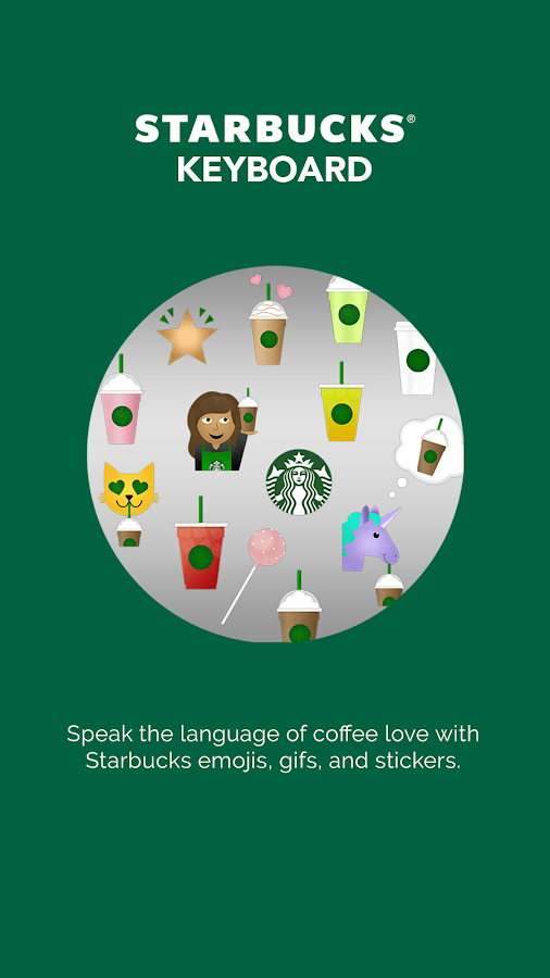 Starbucks Keyboard- screenshot