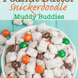 Peanut Butter Snickerdoodle Muddy Buddies (Puppy Chow)