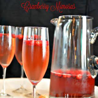 Cranberry Mimosas.