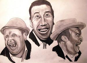 Photo: Les trois comiques (dessin réalisé en format A2)