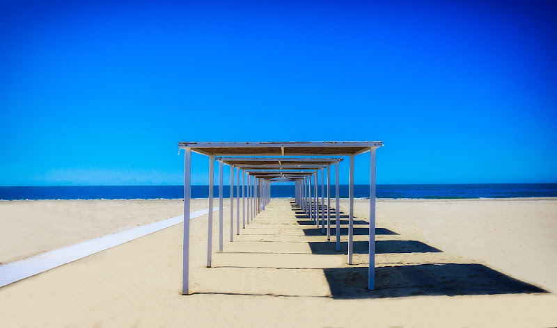 linee su spiaggia di Sil-M