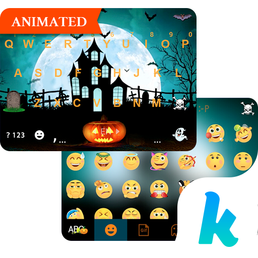 Halloween Animated Kika Theme 社交 App LOGO-硬是要APP