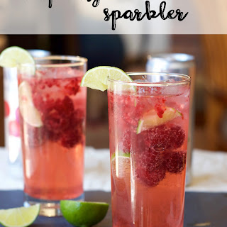 Cool Raspberry Lime Sparkler.