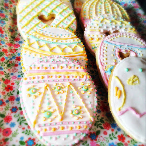 cookies, decorated, easter, Easter Cookies, recipe, royal icing, sugar cookies, 復活節, 糖餅乾