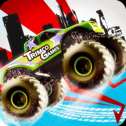 模拟のモンスタートラック4x4のスタントレース LOGO-記事Game