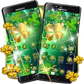 Green Gold Lucky Clover Theme Android APK Download Free By Fantastic Design
