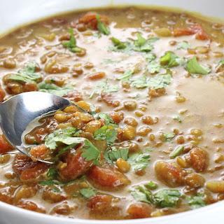 Vegan Curry Lentil Soup.