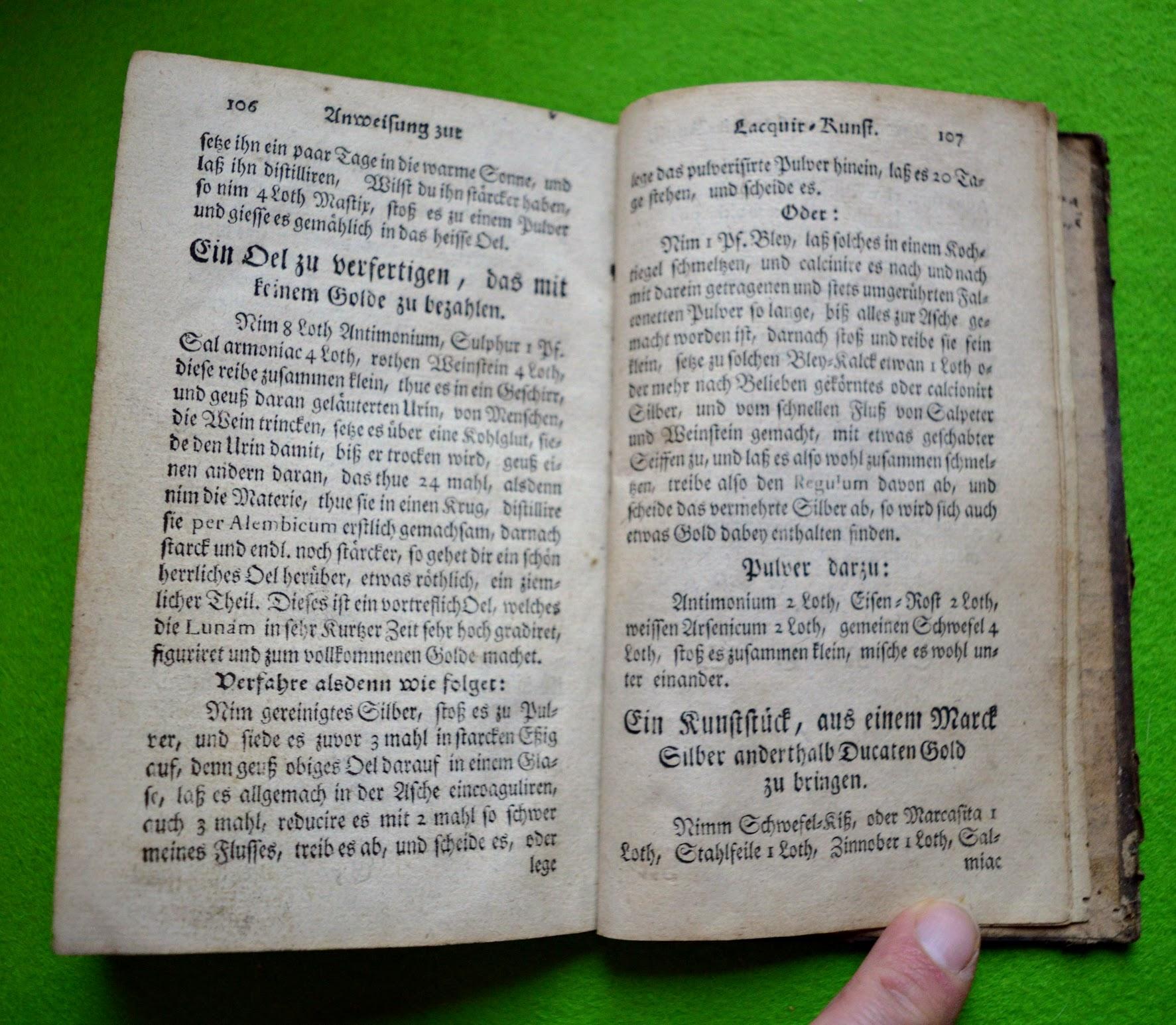 Lackierbuch 1755 - Aus Silber Gold machen