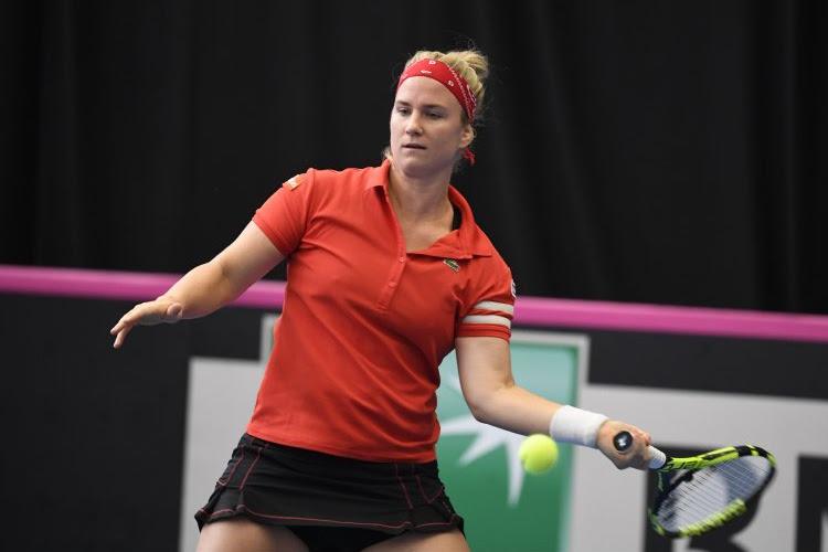 Ysaline Bonaventure laat zich verrassen door Poolse kwalificatiespeelster in Letland
