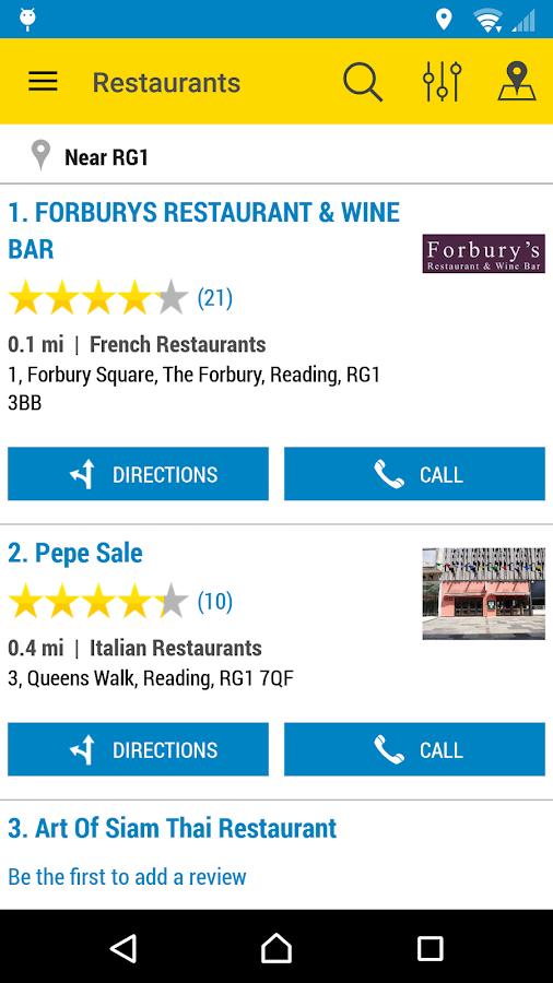 Yell Local Search- screenshot