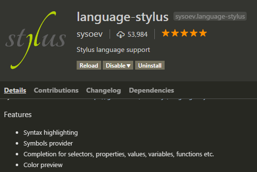 language-stylus