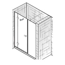 Duschkabinen_Premium Softcube, Raumnische, 3-teilig