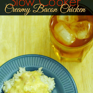 Slow Cooker Recipe Creamy Chicken with Bacon