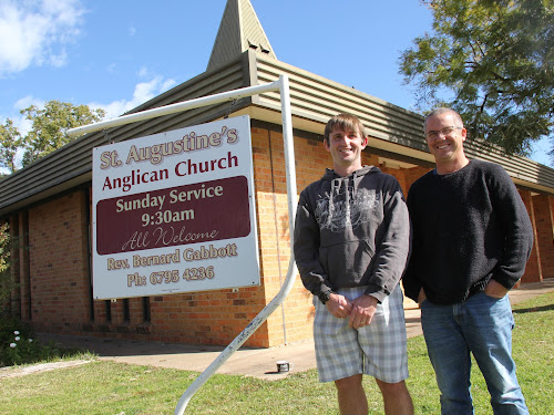 DYNAMIC DUO: Wee Waa Anglican Church youth worker Chris 'Chippy' Petersen is the subject of the three-day fundraising run by minister Bernard Gabbott.