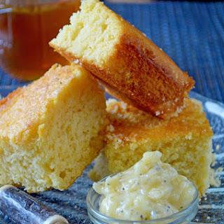 Honey Cornbread with Honey-Poppyseed Butter