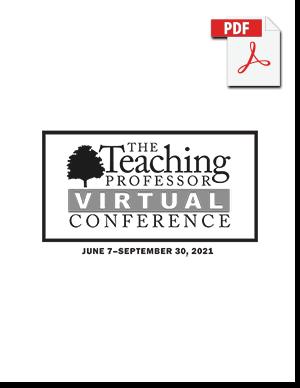 Teaching Professor Virtual Conference program for 2021