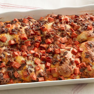 Bacon and Sweet Potato Biscuit Bake