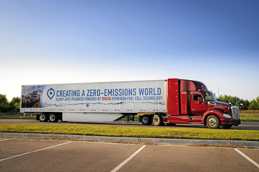 The second generation of Toyota's hydrogen truck. Picture: TOYOTA
