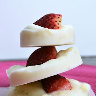 Frozen Strawberry Banana Yogurt Bites