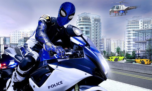 amazing police Spider -rundown city bike chase  captures d'écran 1