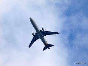 Photo: Ein Flieger über Hilchenbach, wahrscheinlich in Richtung Köln unterwegs :-)