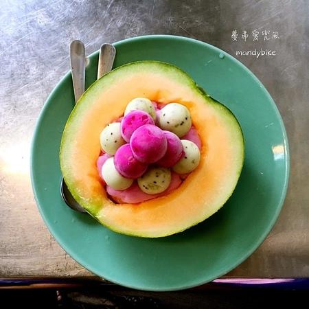 泰成水果店。史上最高顏值的哈密瓜冰。