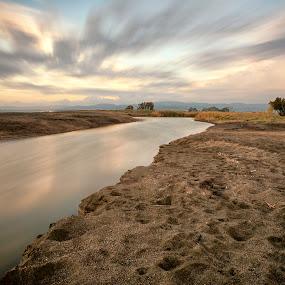 the river by Alex supertramp Bukowski - Landscapes Sunsets & Sunrises ( wild, lefotodialex, silky, nature, tree, color, sunset, cloud, nature photography, long exposure, landscape, photo, photography, river )