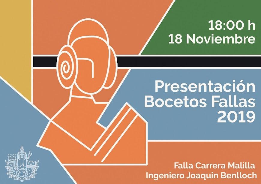 Presentación de bocetos 2019 en Carrera Malilla - Ingeniero Joaquín Benlloch