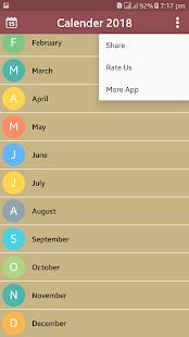 Calendar 2018 New - náhled