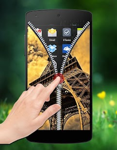 Paris Zipper Lock screenshot