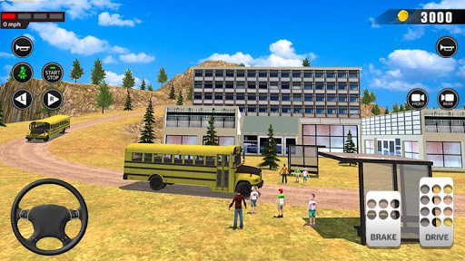 Offroad School Bus Driving: Flying Bus Games 2020 apkpoly screenshots 8