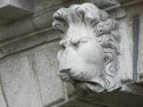 Photo: I decided to take pictures of every lion I saw near St. Mark's. Don't know why. Lion #1.