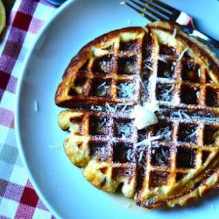 Lemon Coconut Oatmeal Waffles.