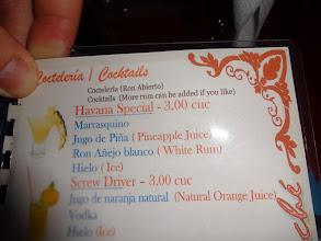 Photo: Na požádání přidáme více rumu. Sympatické. A vlastně proč ne, když 0.7 flaška Havany stojí v obchodě 3CUC.