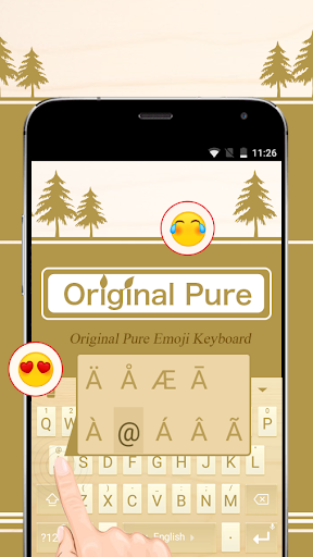 mod Original Pure Theme&Emoji Keyboard 2.7 screenshots 2