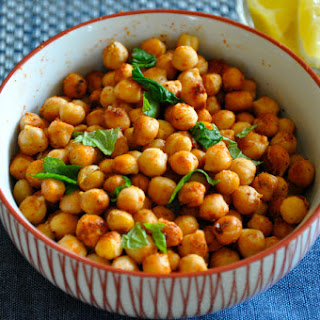 Spicy Roasted Garbanzo Beans.