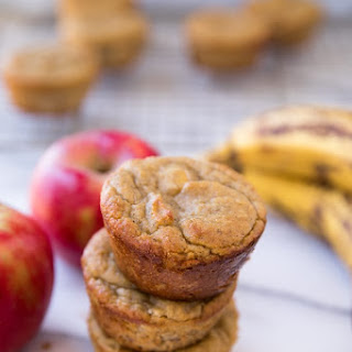 Flourless Banana Apple Muffins.