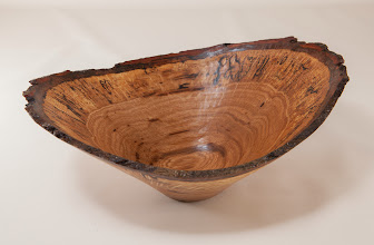"Photo: Phil Brown 9 3/4"" x 4"" natural edge bowl [Tudor Place white oak]"