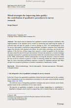 Photo: http://link.springer.com/article/10.1007%2Fs11135-013-9923-4  Abstract This article aims to illustrate how qualitative research strategies contribute to the implementation of the standard survey model by monitoring and improving the quality of collected data and thus the quality of survey findings as well. The methodological cycle for survey data-quality construction using qualitative strategies comprises three sequential stages that alternate with standard procedures: the pilot study, pretesting, and deviant case analysis. If the first two of these stages have enjoyed a certain recognition in the literature, the same cannot be said for deviant case analysis. Deviant case analysis is a research strategy originally proposed by Lazarsfeld and promoted within the Colombia School from the 1940s to the 1960s, unfortunately without subsequently receiving the attention it deserved within the area of survey research in general. It refers to searching outside the collected empirical base for clues concerning anomalous responses revealed by statistical analysis that either deviate from research hypotheses or produce contradictory classificatory results.  Keywords Mixed methodology · Survey data quality · Deviant case analysis · Pilot study · Columbia School