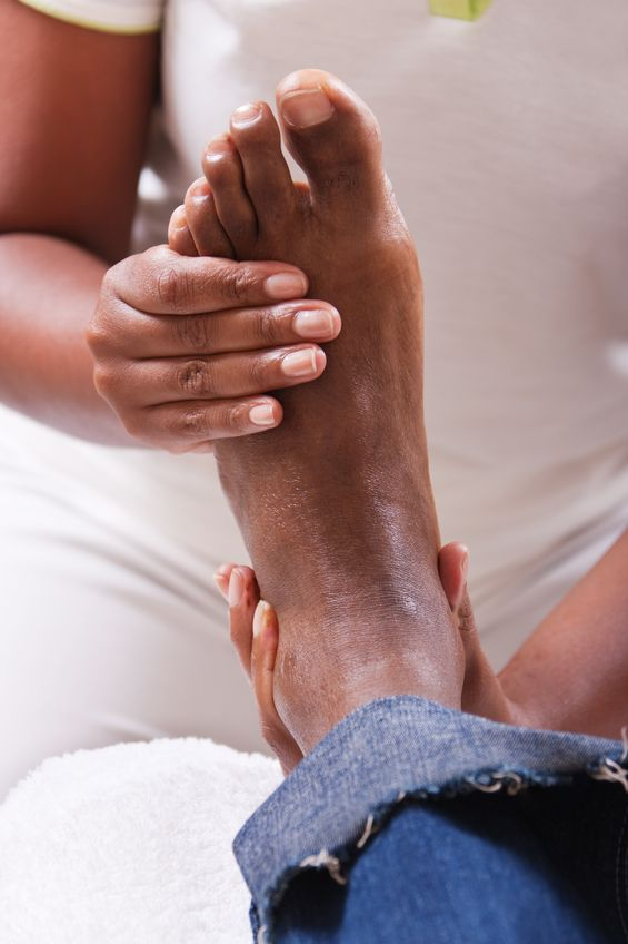 There's nothing more relaxing than a foot massage.