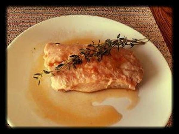 Poached Salmon In Tomato Garlic Broth Recipe