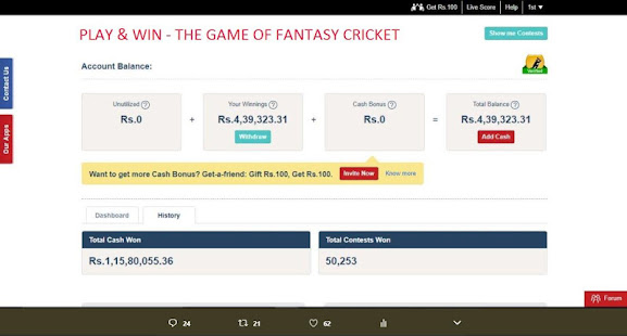 Download dream11 ipl fantasy cricket, D11 daily news & tips