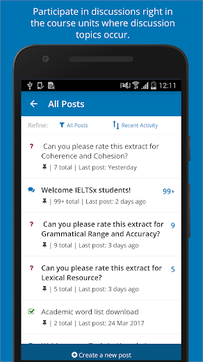 Screenshot 2 for EdX's Android app'
